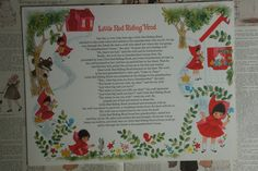 Hallmark Plans-A-Party Paper Place Mats ~ Little Red Riding Hood ~ 1970's by smileitsvintage on Etsy