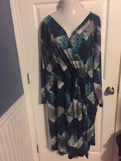 Igigi Dress Plus Size 26 28 Faux Wrap Garnet Style In Crystal Cruise Stretchy  #Igigi #FauxWrap #WeartoWork