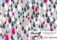 Jersey Dancing in the Rain DROPS Organic cotton by DieNaehfeeDIY, €9.96