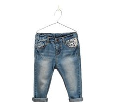 Image 1 of embroidered jeans from Zara