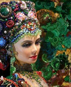 Купить Хозяйка медной горы - зеленый, margo, хозяйка медной горы, авторская кукла
