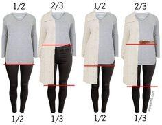 Plus Size Proportions - How to wear your clothes in a more flatting way, Alexa W. - Plus Size Prop Xl Mode, Mode Plus, Fashion Moda, Curvy Fashion, Womens Fashion, Fashion Trends, Petite Fashion, Jumper Outfit, Plus Size Dresses