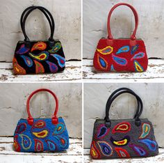 mielie - proudly South African. Plastic Canvas Stitches, Felt Purse, Carpet Bag, Fabric Bags, Crochet Purses, Rug Hooking, Handmade Bags, Straw Bag, Purses And Bags