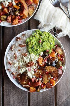 Roasted Harvest Veggie, Curried Avocado + Coconut Rice Bowls | halfbakedharvest.com
