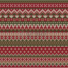 Illustration of Christmas Sweater Design. Seamless Knitted Pattern In Traditional Fair Isle Style vector art, clipart and stock vectors. Fair Isle Knitting Patterns, Knitting Charts, Knitting Stitches, Knitting Designs, Knit Patterns, Stitch Patterns, Motif Fair Isle, Fair Isle Chart, Fair Isle Pattern