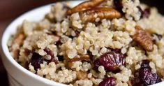 Tosca Reno: The Gracious Pantry Shares Cranberry Pecan Quinoa