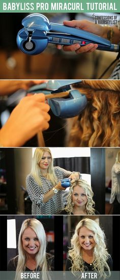 An easy how-to tutorial on the Babyliss Pro Miracurl. This curling machine is amazing! #babylisspromiracurl