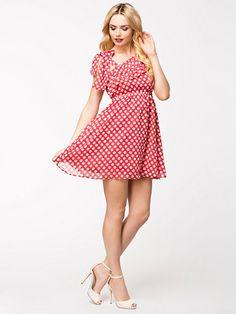 Printed Dress - Catwalk88 - Röd - Klänningar - Kläder - Kvinna - Nelly.com