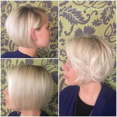 33 Hottest A-Line Bob Haircuts You'll Want to Try in 2019 - Style My Hairs Bob Style Haircuts, Stacked Haircuts, Short Haircuts, Try On Hairstyles, Box Braids Hairstyles, Hairstyles 2018, Make Hair Grow, How To Make Hair, Layered Bob With Bangs