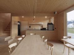 Maison du lac by Capaul & Blumenthal — Atlas of Places Davos, Architecture, Conference Room, Places, Table, Furniture, Home Decor, Heat Pump System, Raw Wood