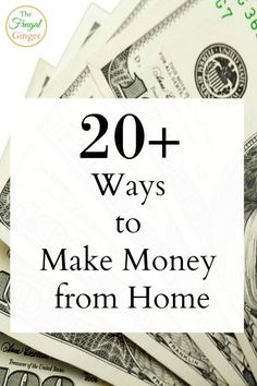 I love these tips! I knew there was a way to make money from home and this list gave me some great ideas.