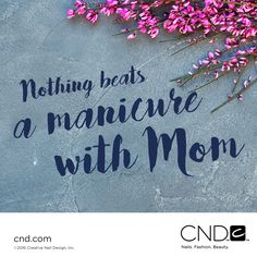 Happy Mother's Day! Make sure you pamper your mom today!