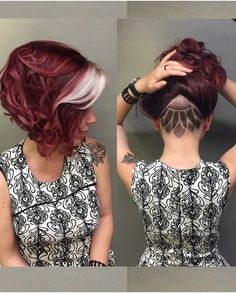 35 auffallend kurze rote Frisuren - Kids Snacks - Make Up Brushes - DIY Piercing - Red Hair Styles - DIY Interior Design Short Red Hair, Short Hair Cuts, Undercut Hairstyles, Pretty Hairstyles, Short Undercut, Red Hairstyles, Red Hair Undercut, Shaved Undercut, Newest Hairstyles