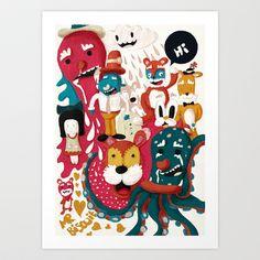 Doodle+No.+1+Art+Print+by+mrbiscuit+-+$18.00