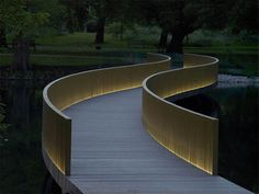 #landarch #urbandesign The Sackler Crossing, Kew, Surrey, by John Pawson