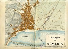 Lote 25859956: ANTIGUO MAPA Y PLANO DE ALMERÍA (C. 1925) Spain Holidays, Andalusia, Seville, Spain Travel, Granada, Best Hotels, Trip Planning, Postcards, Vintage World Maps