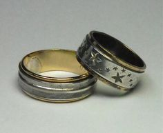 Lot of Two Retro Vintage Sterling Silver & Gold by lifeintheknife, $37.99