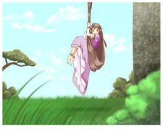 Awe!! Zelda and Tangled crossover!
