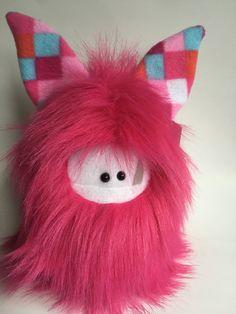 Plush Monster  Faux Fur Softie  Cute by ItsHandmadeByAndrea
