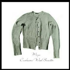 "💕BEAUTIFUL💕MAYA - CASHMERE/LAMBS WOOL SWEATER BEAUTIFUL MAYA BUTTON DOWN SWEATER MATERIAL;        * 39% Cashmere        * 68% Lamb Wool        * 03% Polyamide Arm Length   * 20"". Chest 16 1/2"" Sweater Length 19"" Beautiful and Soft, Not Itchy. Like Brand New w/o Tag! Maya Sweaters Cardigans"