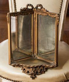Hotel silver, antiques, and vintage online catalogue Wood Corner Shelves, Corner Shelf, Beautiful Mirrors, Beautiful Things, Mirror Image, Mirror Mirror, Corner Mirror, La Petite Boutique, Rose Garland