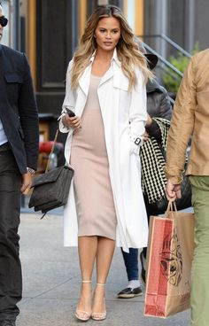 Wolford stretch clothes for pregnant Chrissy Teigen