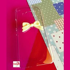 Cute bow #phonecase.  #clearcase