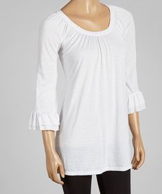 This White Bell-Sleeve Tunic is perfect! #zulilyfinds