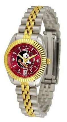 FSU Florida State University Ladies Gold Dress Watch