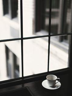 cafe in blanco y negro