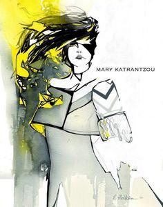 cool Mary Katrantzou fashion illustration competition... Fashion designers Check more at http://pinfashion.top/pin/62515/