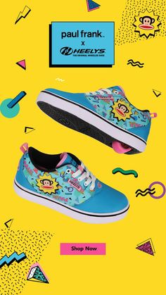 We're getting into some monkey business... @paulfrankpix X Heelys are here for all your nostalgic feels 🙈 #PaulFrankXHeelys Shoe Releases, Paul Frank, Monkey Business, Shop Now, The Originals, Feels, Collection, Shopping, Shoes