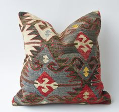 Real Vintage Antique Handmade Turkish Kilim Rugs and Pillows from KilimRugAvenue Kilim Pillows, Decorative Throw Pillows, Cushions, Turkish Kilim Rugs, Vintage Antiques, Pillow Covers, Carpet, Wool, Trending Outfits