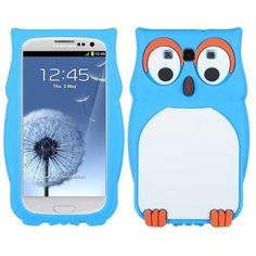 Samsung Galaxy S3 Blue Owl Pastel Skin Cover
