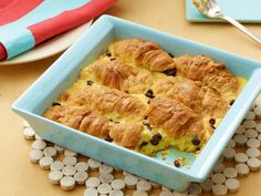 Croissant Bread Pudding recipe from Ina Garten via Food Network