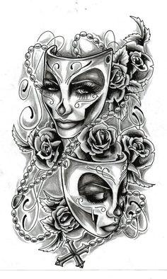 Face tattoos, body art tattoos, cool tattoos, chicano tattoos sleeve, t Tattoos Skull, Body Art Tattoos, Cool Tattoos, Clown Tattoo, Tatoos, Peace Tattoos, Woman Tattoos, Tattoos Pics, Key Tattoos