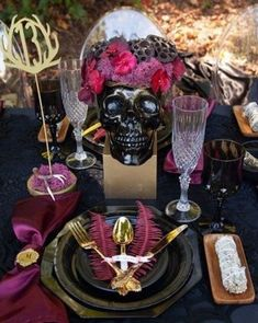 How to set a gorgeous magical table setting for a Spellbound Halloween Wedding or dinner party. Get details now at fernandmaple.com. Diy Wedding, Wedding Events, Rustic Wedding, Weddings, Wedding Ideas, Table Setting Inspiration, Romantic Wedding Inspiration, Wedding Table Settings, Pumpkin Decorating