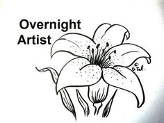 This would be a beautiful Lily design to do in Stained Glass for Easter or just any flower lover