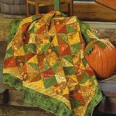 We've gathered up four of the most popular color schemes in quilting: fall colors, bright colors, grayscale, and rainbow. If you're feeling ambitious, make a quilt in each of the color schemes.