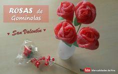 DIY Rosas de chuches o gominolas | Aprender manualidades es facilisimo.com