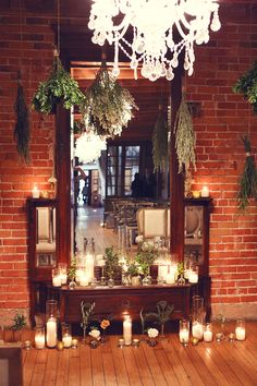 vintage mirror and herb altar | Lukas & Suzy VanDyke | Glamour & Grace