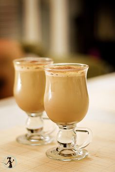 Iced coffee with amaretto
