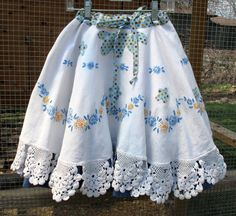 Whirly Twirly Skirt  Upcycled Vintage  Shabby by thepainteddaisy