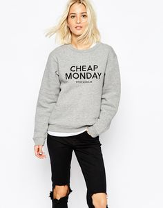 Cheap Monday Embroidered Logo Sweatshirt