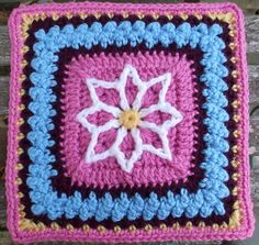 """Ravelry: Project Gallery for Precious 6"""" and 9"""" Afghan Square pattern by Julie Yeager"""