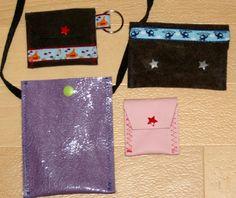Upcycled pouches / Täschchen z.B. aus alter Lederjacke