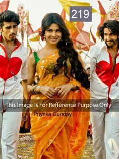 Priyanka Chopra Orange Saree In Gunday by Vendorvilla.com