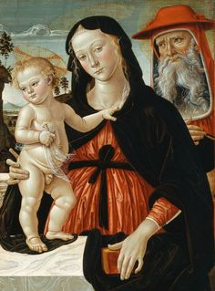 PINTURICCHIO, VIRGIN AND CHILD WITH ST. JEROME, C. 1475-80