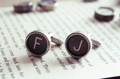 Personalized Cuff links All letters by KfiatekGiftedHands on Etsy, £24.50