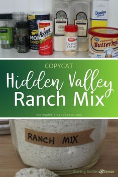 This is THE BEST copycat Hidden Valley Ranch Mix recipe. It is SO easy to make your own homemade ranch dressing at home when you have a batch of this ranch mix on hand. Hidden Valley Ranch Mix Recipe, Hidden Valley Ranch Packet, Hidden Valley Recipes, Hidden Valley Ranch Dressing, Dry Ranch Dressing Mix, Ranch Dressing Recipe, Ranch Recipe, Homemade Ranch Dressing Mix, Homemade Ranch Mix